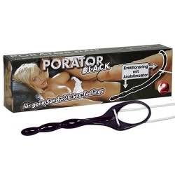 PORATOR COCKRING WITH ANAL STIMULATOR BLACK