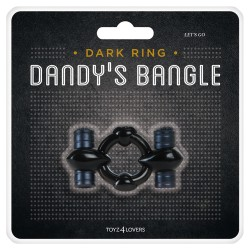 DANDY'S BANGLE LETS GO VIBRATING COCKRING BLACK