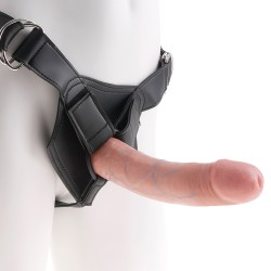 "STRAP-ON REALISTA 8"" KING COCK BRANCO"