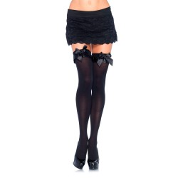 BLACK THIGH HIGHS WITH BOWS