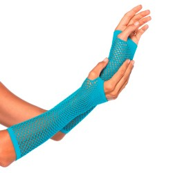BLUE TRIANGLE NET FINGERLESS GLOVES