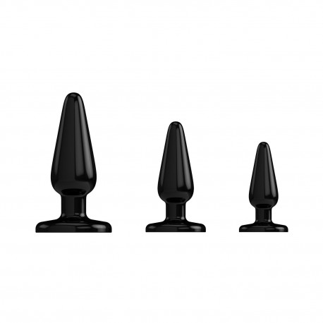 SHOTS TOYS ANAL TRAINER KIT 3-PACK PLUGS BLACK