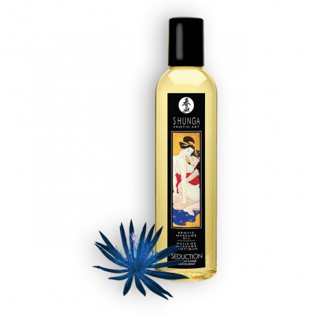 SHUNGA MASSAGE OIL SEDUCTION MIDNIGHT FLOWER 250ML