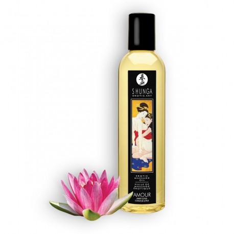 SHUNGA MASSAGE OIL AMOUR SWEET LOTUS 250ML