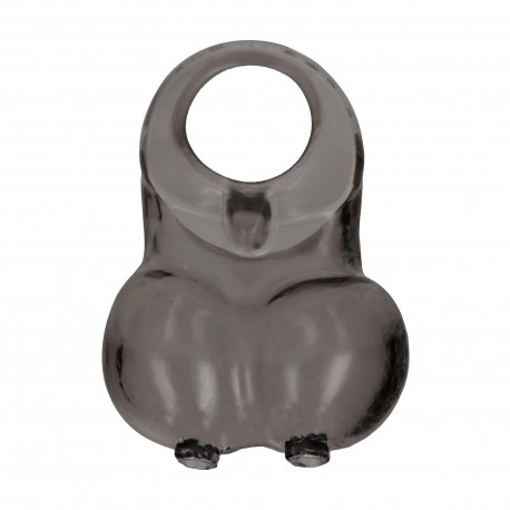 SONO Nº73 COCK RING WITH TESTICLE RESERVOIR BLACK