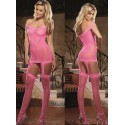 CATSUIT DE REDE HOT PINK DREAMGIRL