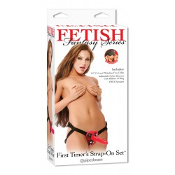 CINTA COM DILDO FIRST TIMERS STRAP-ON SET