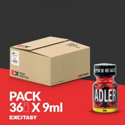 PACK WITH 36 ADLER POPPERS 9ML