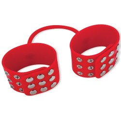 SILICONE CUFFS RED