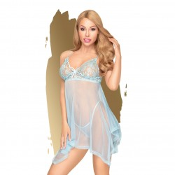 PENTHOUSE NAUGHTY DOLL BABYDOLL AND THONG BLUE