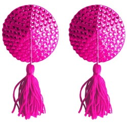 ROUND NIPPLE TASSELS OUCH! NIPPLE COVERS PINK