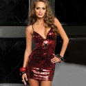 RED SEQUIN DRESS WITH STARS